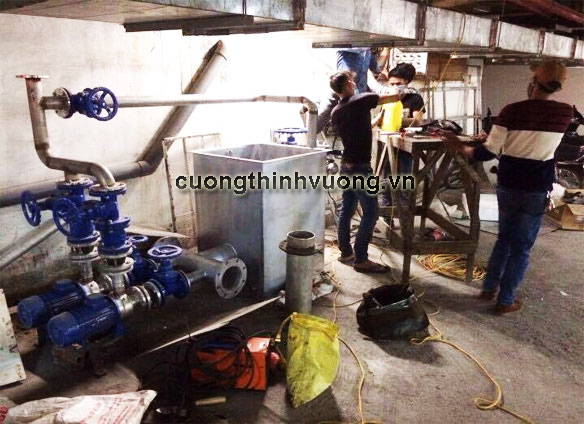Cường Thịnh Vương thi công lắp đặt hệ thống máy bơm nước thải