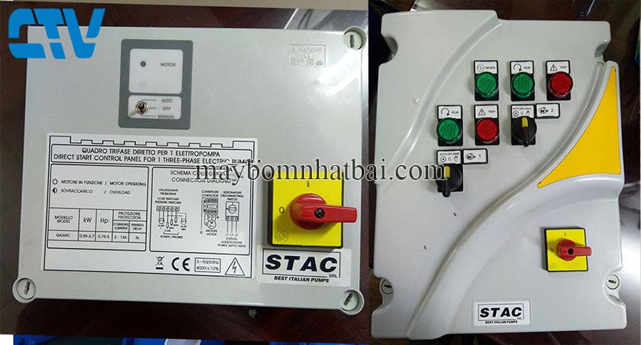 Tủ điện, tủ điện bảo vệ máy bơm Stac - Italy